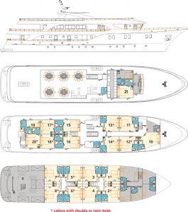 MV Aquamarin Deck Plan