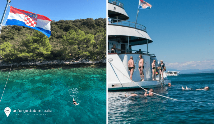 Swimming opportunities | Croatia Cruise
