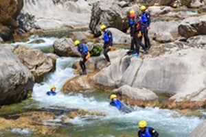Canyoning in Cevina river, Split, Croatia