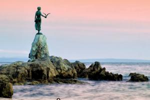 Maiden with the Seagull Statue, Opatija, Croatia