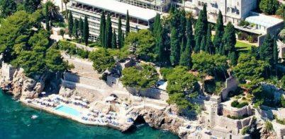 Grand Villa Argentina, Dubrovnik full aerial shot