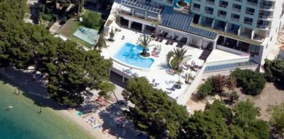 Hotel Park, Makarska full aerial view of hotel