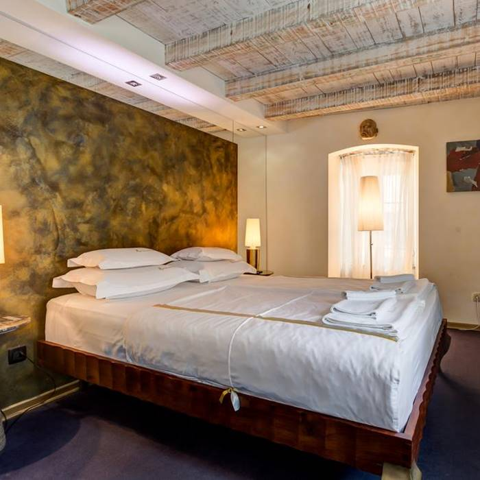 Boutique Hotel Hippocampus, Kotor beautiful double bed bedroom