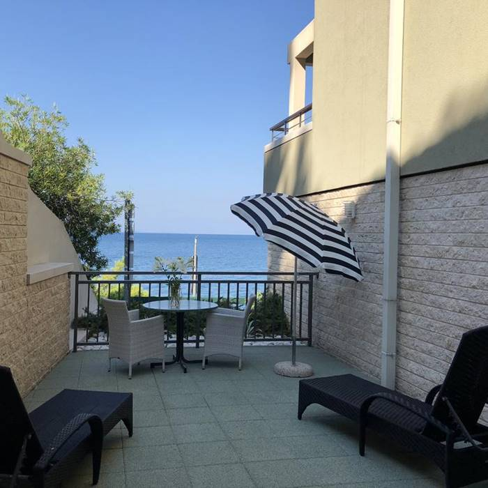 Hotel Park, Makarska balcony and lounge area with sea view