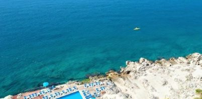 Hotel Neptun, Dubrovnik top view of outdoor pool and Adriatic sea view