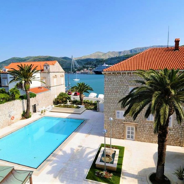 hotel lapad, dubrovnik pool and sea view