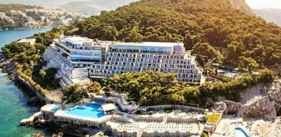 Hotel Dubrovnik Palace full aerial view of hotel