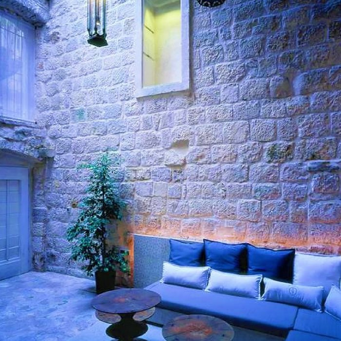 Lesic Dimitri Palace, Korcula outdoor lounge sofa in hotels garden