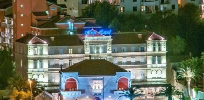 hotel lapad, dubrovnik sea front view at night