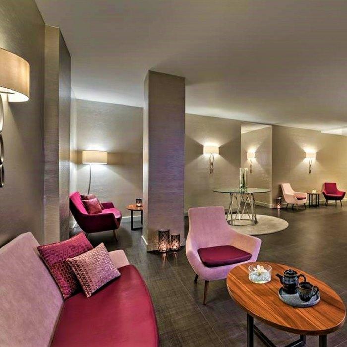 Le Meridien Lav indoor futuristic lounge