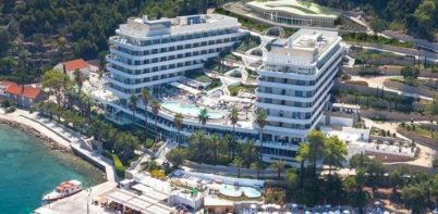 Lafodia Sea resort, Lopud aerial view of hotel