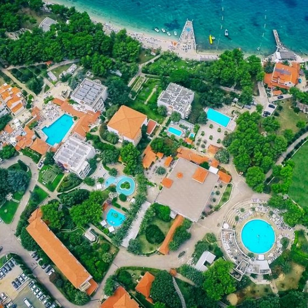 Waterman Supetar Resort aerial