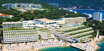 Valamar Dubrovnik President sea front full aerial view