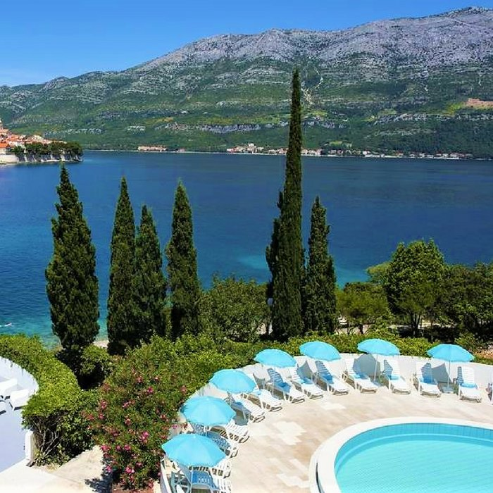 Hotel Liburna, Korcula pool side sea view