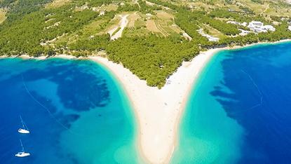 Zlatni Rat Beach, Brac Island, Croatia