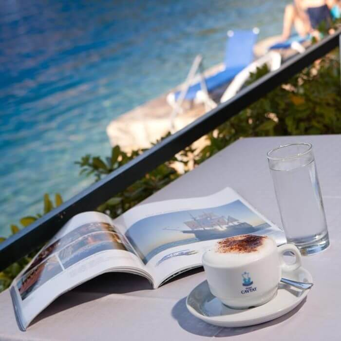 Hote Cavtat, Cavtat lounge and coffee next to the sea