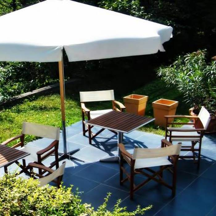 Hotel President, Zagreb outdoor coffee lounge
