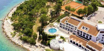 Hotel Liburna, Korcula full aerial view
