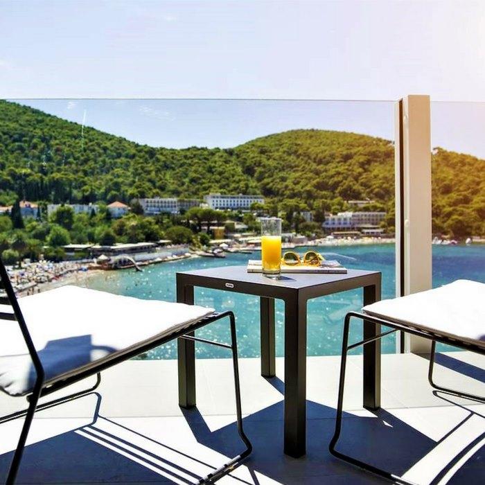Hotel Kompas, Dubrovnik room balcony view of pool