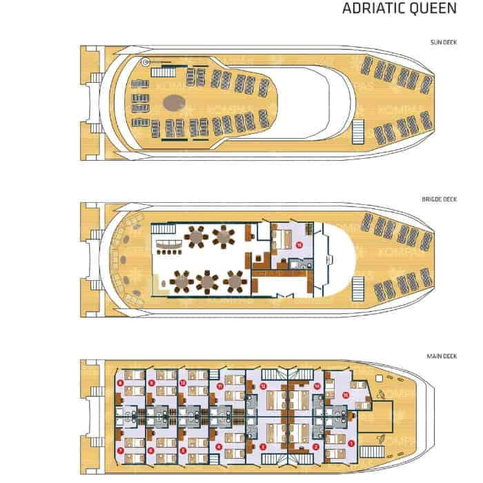 Adriatic Queen deck plan