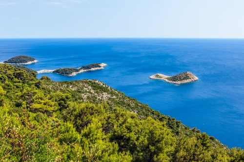 Adriatic landscape on Mljet-island