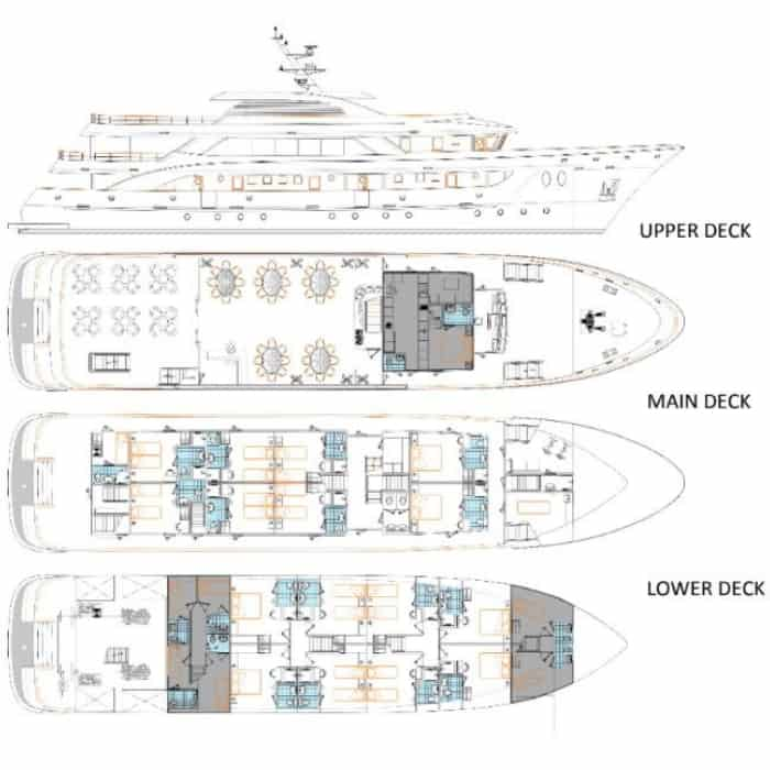 MS Amalia deck plan