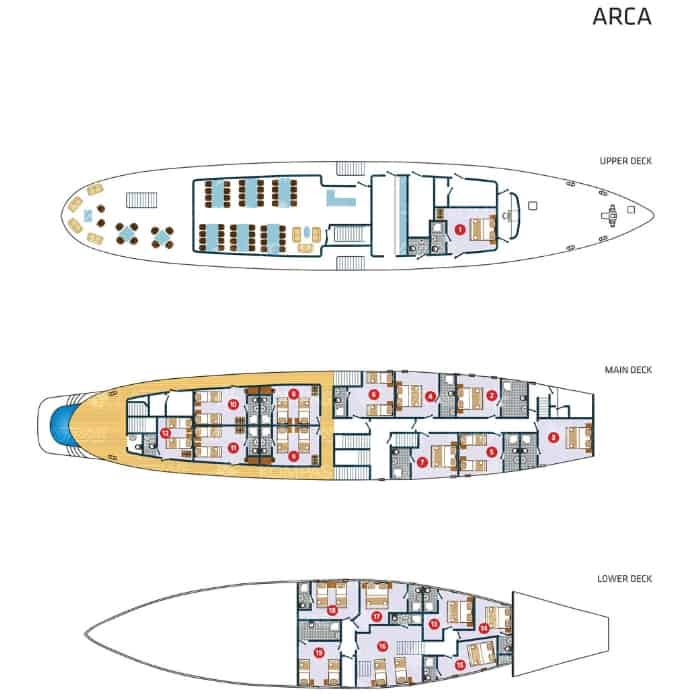 MS Arca deck plan