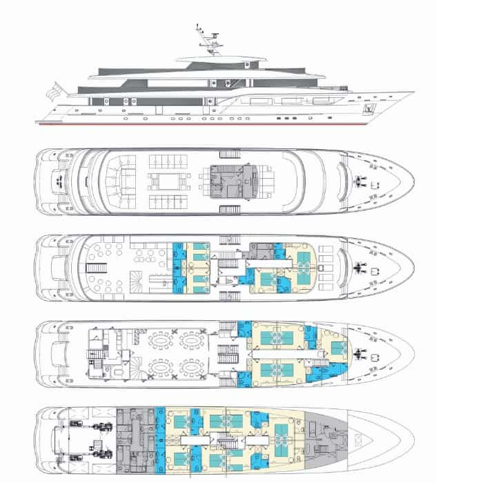 MV Black Swan deck plan