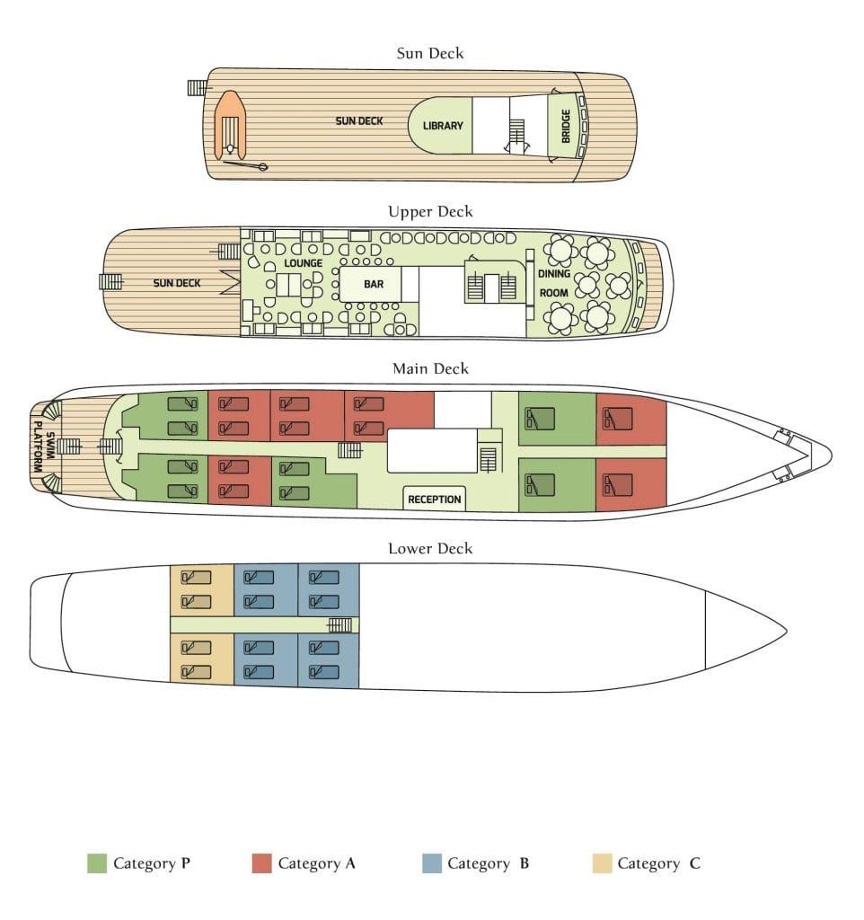 MY Callisto deck plan
