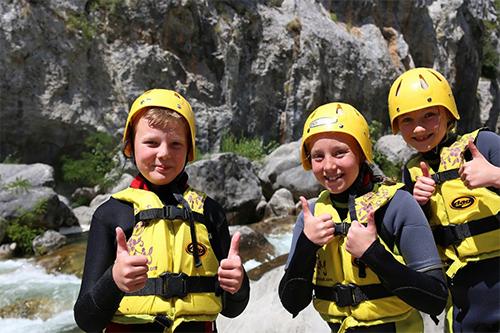 Canyoning trip kids