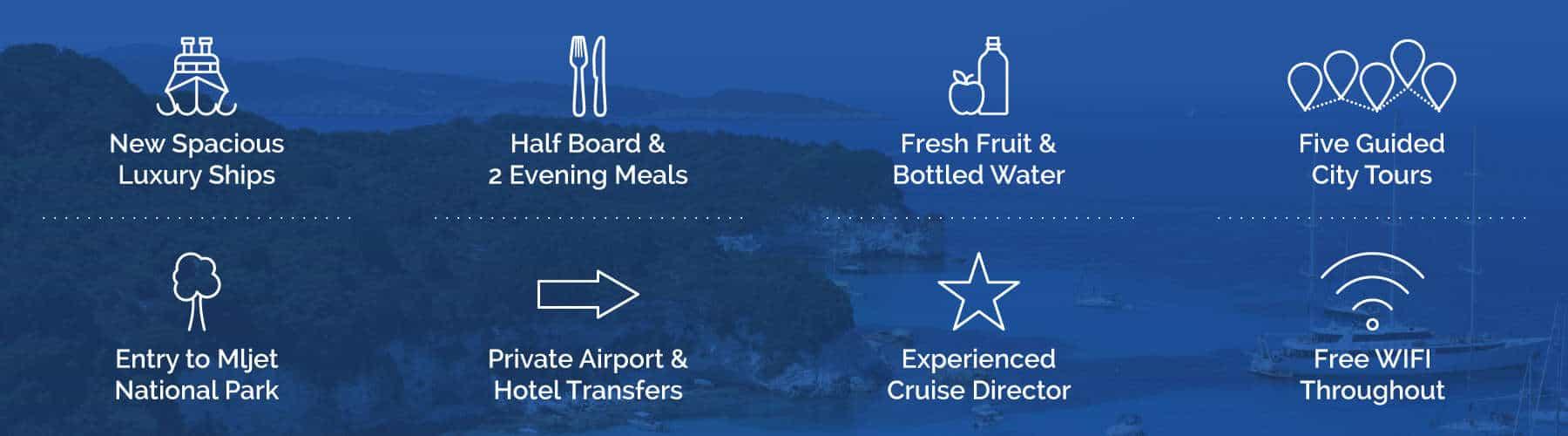 Croatia Luxury Cruise Inclusions Unforgettable Croatia