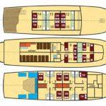 Eden Cruise Ship, deck plan Croatia