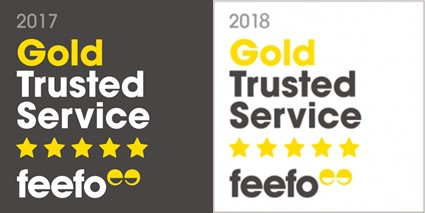 Gold Trusted Service by Feefo
