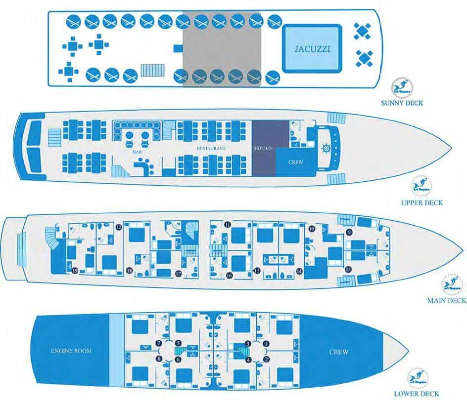 MS Kleopatra deck plan