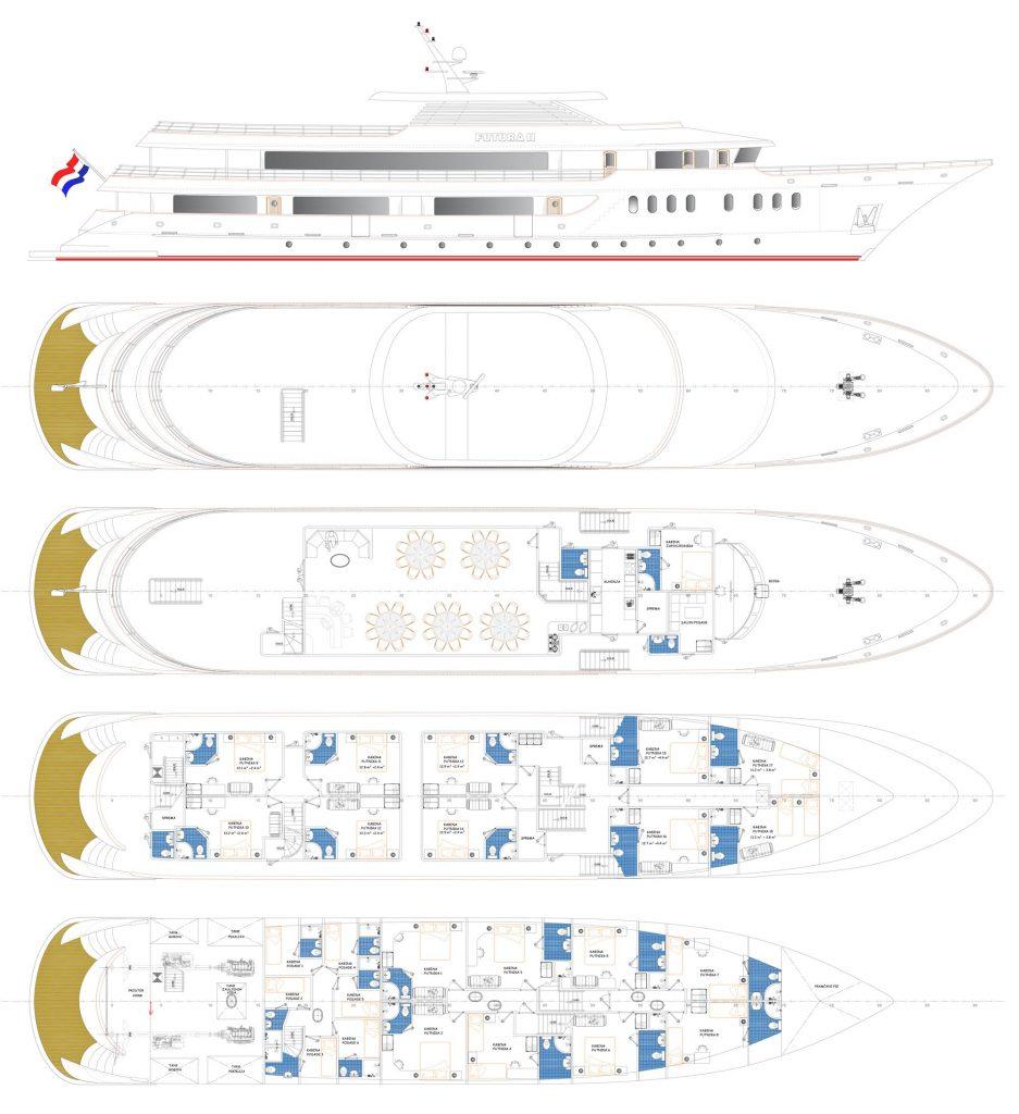 MV Avangard ship deck plan
