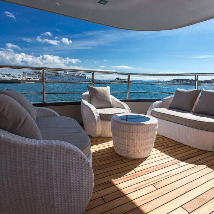 MV Ave Maria deck