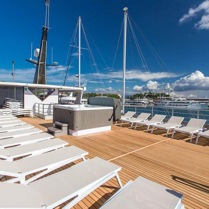 MV Ave Maria sun deck