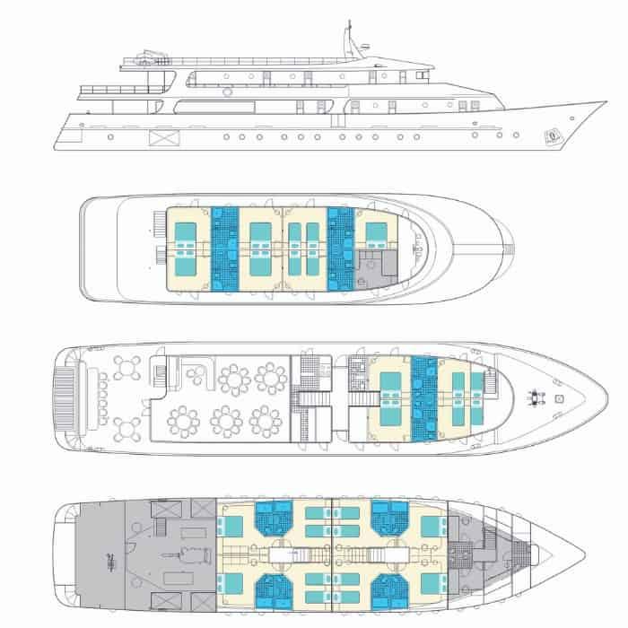 MV Fantazija deck plan
