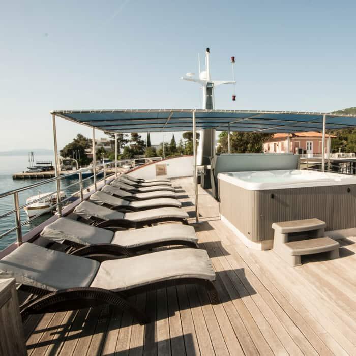 MV Fantazija Sun deck