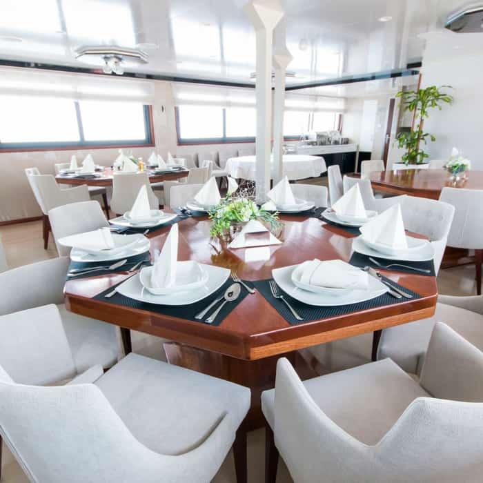 MV Infinity dining area