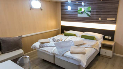 MV Infinity double cabin, Croatia small ship cruise, Unforgettable Croatia