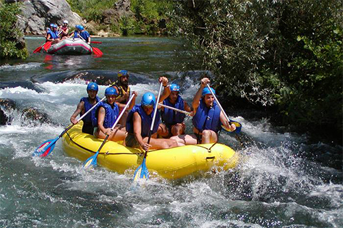 Rafting down the Cetina River