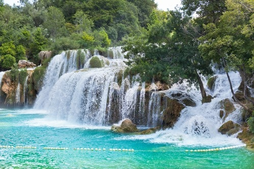 Scenic Krka waterfalls