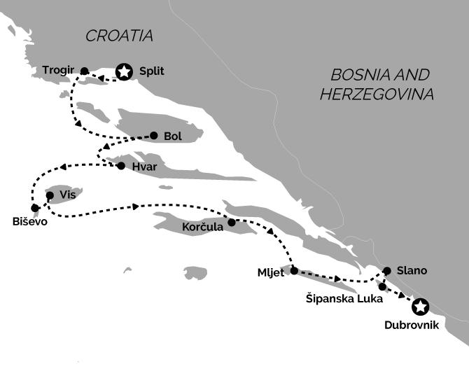 Deluxe Split to Dubrovnik Croatia Cruise