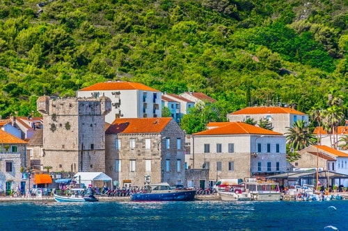 Vis town coastal