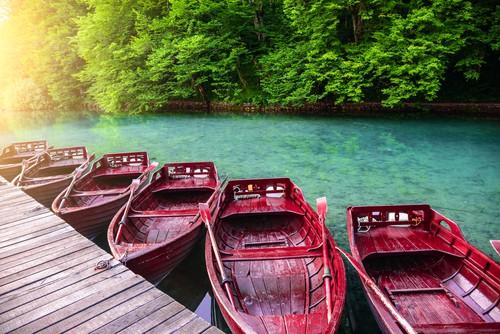 Boats at Plitvice Lakes