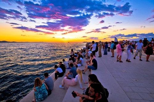 Zadar seaview sunset