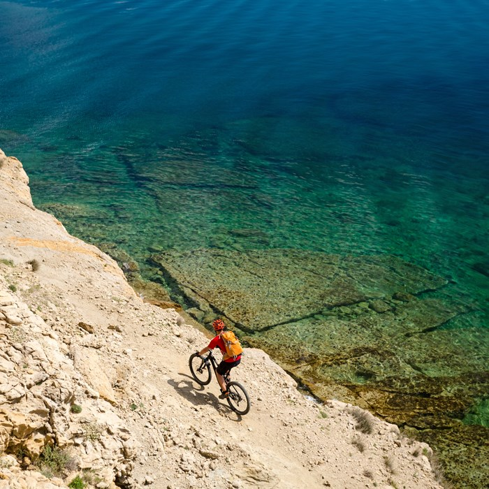 Cycling in Croatia at the sea
