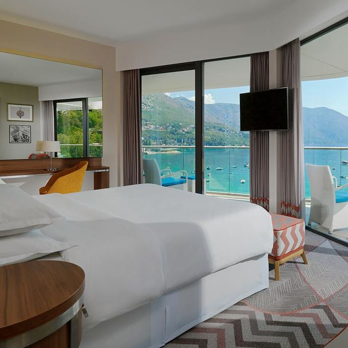 Hotel Sheraton, Dubrovnik double bed with a view of Adriatic sea