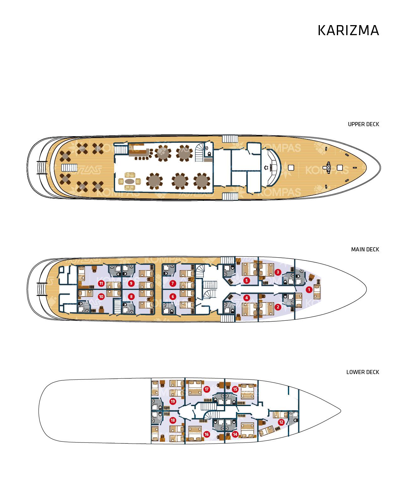 MS Karizma Deck Plan